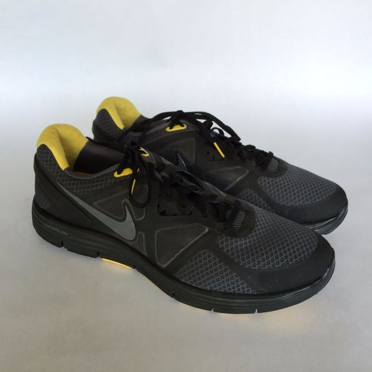 Nike Lunarglide+ 2 Livestrong LAF Black Maize Sneakers Sz 12 #Nike  #AthleticSneakers