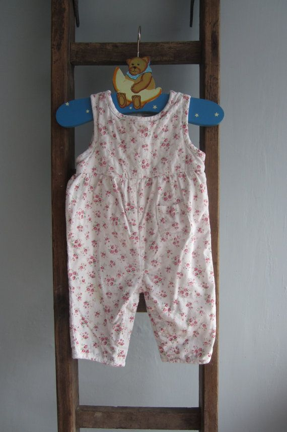 Baby girl dungarees toddler overalls playsuit by LottiesSewKnit