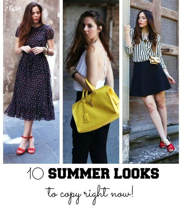 Tutorials: 10 summer looks to be worn right now!