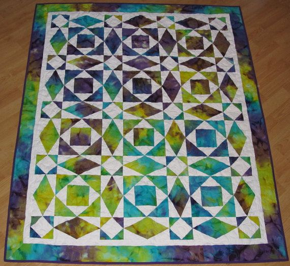 Batik Storm At Sea Lap Quilt Quilt Awesome And Yellow