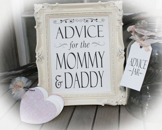 Advice For The Mommy U0026 Daddy  Baby Shower Game Tag Book  Guest Book