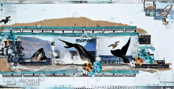 Double-page layout by Michelle Carrick created with the Penelope Dee Photogenic Range.