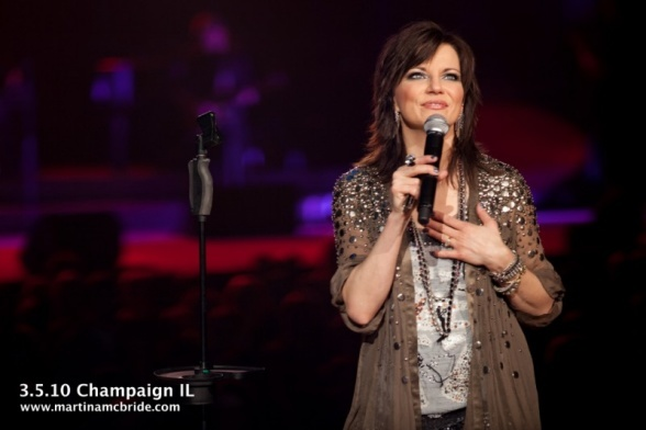 Martina Captivates Champaign, GAC visited the Shine All Night Tour during the stop at Assembly Hall in Champaign, IL on March 5.    View more Martina McBride photos », GAC visited the Shine All Night Tour during the stop at Assembly Hall in Champaign, IL on March 5.    View more Martina McBride photos »