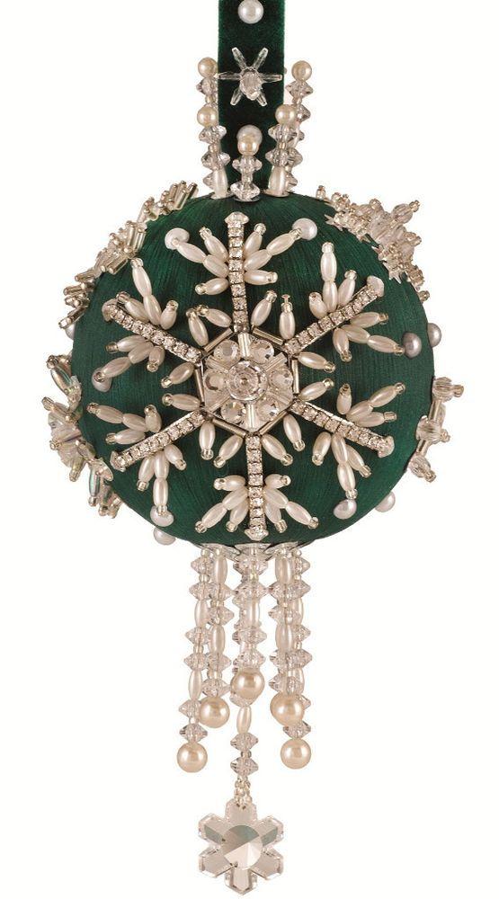 Kits Ornament Beaded Snowflake
