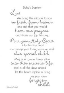 Baby Baptism Quote
