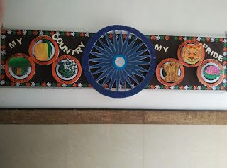 Art ,Craft ideas and bulletin boards for elementary schools: Independence Day bulletin board | 15th August 2016...