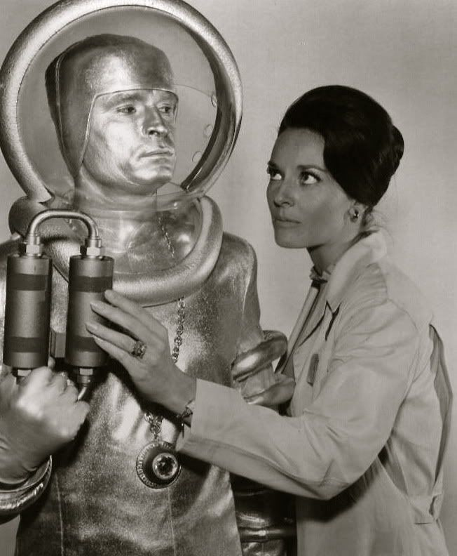 Lee Meriwether in The Time Tunnel (66-67) -- Meriwether's long career includes Batman, Star Trek, Land of the Giants, The Man from UNCLE, The 4D Man, Mission Impossible, and about a hundred others -- including Duckman!