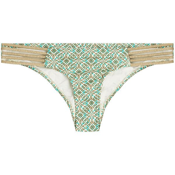Ondademar Rosental Strappy Scoop Bikini Bottoms (109 AUD) ❤ liked on Polyvore featuring swimwear, bikinis, bikini bottoms, multicolor, ondademar swimwear, multicolor bikini, multi color bikini, cut-out swimwear and strap bikini