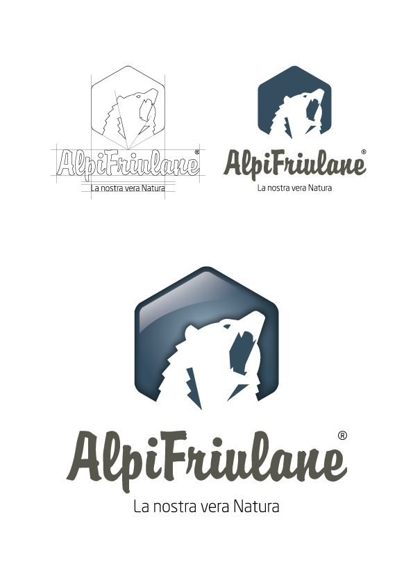 Realizzazione del #logo per l'associazione #AlpiFriulane che promuove il territorio della #montagna del #FriuliVeneziaGiulia
