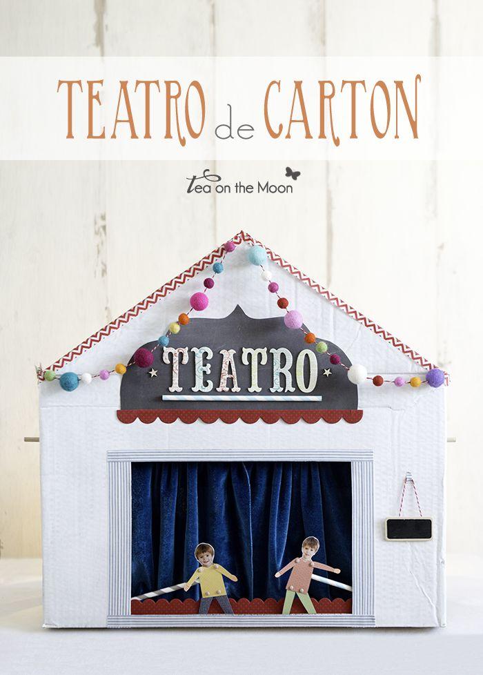 Tea On The Moon - Viajes, niños, música, scrapbook, craft: Teatro de cartón para Kireei Magazine + {George Ez...