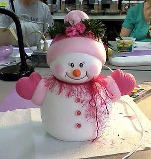 Muñeco de Nieve Rosado