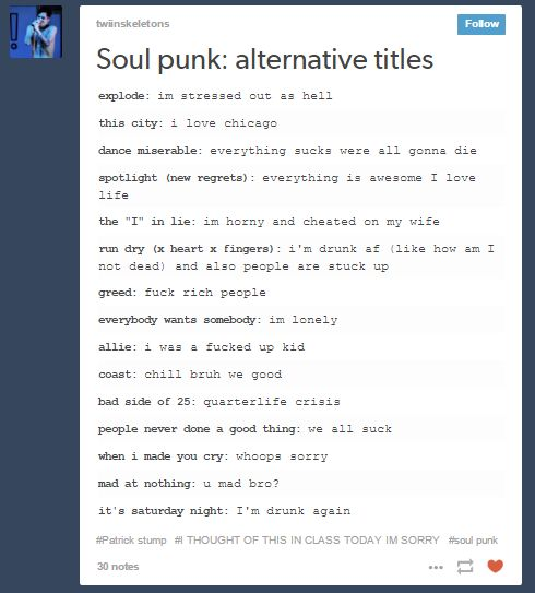 Soul Punk Alternative Titles Ermahgawd And now I need to listen to it all