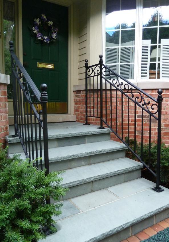 ornate-foot-mount-wrought-iron-rail