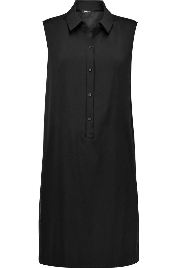 DKNY Satin and chiffon dress. #dkny #cloth #dress