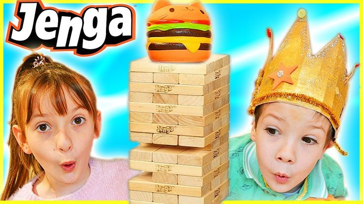 Crazy Jenga Game Challenge Surprise Squishies Play Fun Toy Prizes ABC Ch...