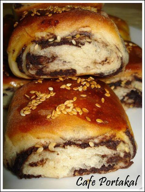 CAFE PORTAKAL: Şambali,Fındık ezmeli,kakaolu üzümlü çörek ve meyve soslu kurabiye