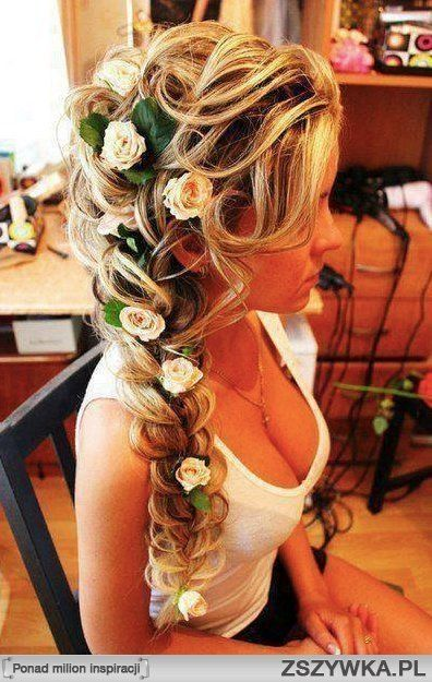 Floral hair. Beautiful