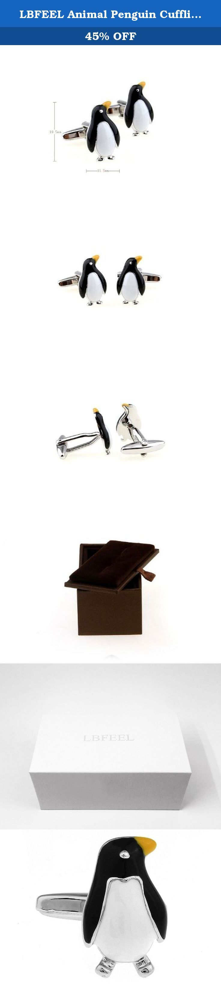 LBFEEL Animal Penguin Cufflinks for Men with a Gift Box. These cufflinks are trendy and gives a fun look. Raise your own game with these amazing accessories.