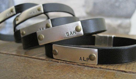 Groomsmen Custom Leather Bracelets