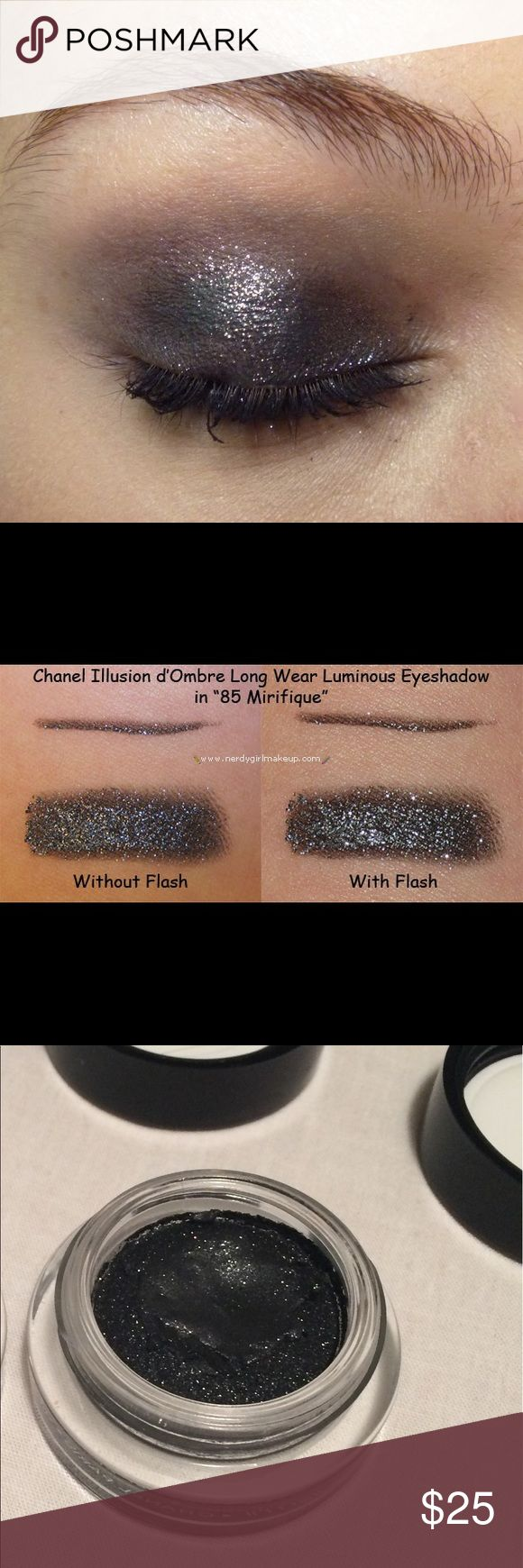 CHANEL Illusion d'Ombre Eyeshadow 85 Mirifique This listing is for JUST Mirifique. Beautiful smudged and for a smokey eye. Used 3-4x. Bundle and save! Also sellif Fantasme. NO TRADES CHANEL Makeup Eyeshadow