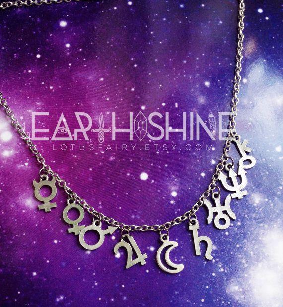 Sailor Moon Planet Glyph Symbol necklace