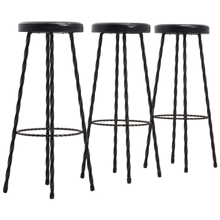 French Wrought Iron Bar Stools 1950 In The Manner Of Mategot Iron Bar Stools Wrought Iron Bar Stools Bar Stools Black wrought iron bar stools