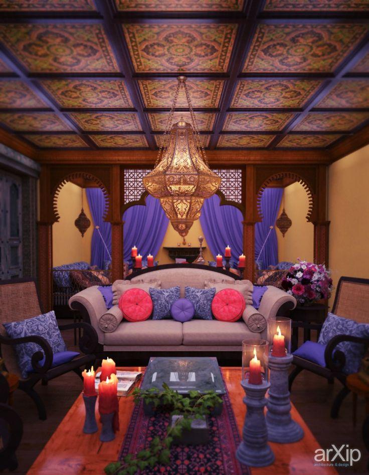Марокканский интерьер от Витта-групп: интерьер, квартира, дом, восточный, марокканский стиль, потолок, 50 - 80 м2, студия #interiordesign #apartment #house #moroccan #ceiling #50_80m2 #studio #atelier arXip.com
