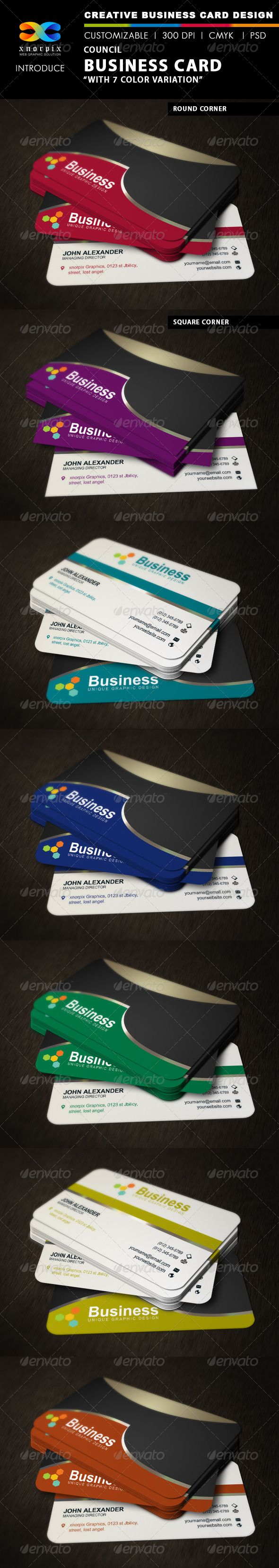 Color printing bu - Council Business Card