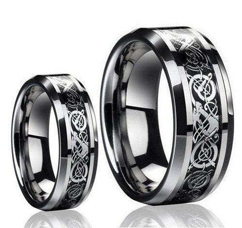 His & Her's 8MM/6MM The Celtic loved Design Tungsten Carbide Wedding Band Ring Set (Available Sizes 5-13 Including Half Sizes Please e-mail sizes Tungsten Ring Set http://www.amazon.com/dp/B00KLKTTE2/ref=cm_sw_r_pi_dp_iNIAvb15RK19Y