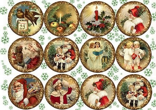 Paper Decoupage Paper A4 NY-059 Christmas ART paper