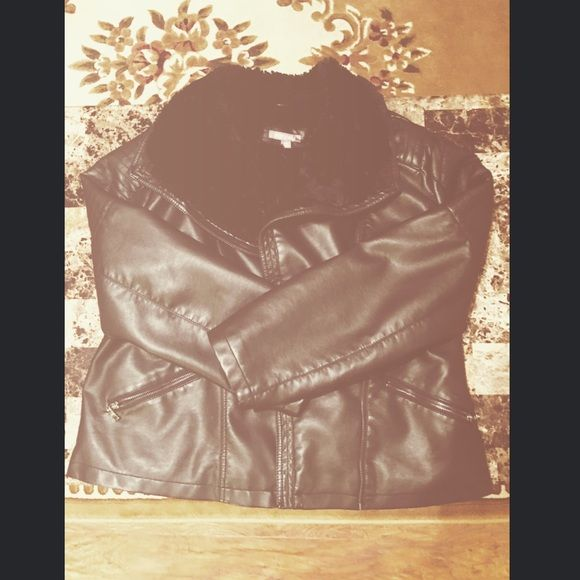 Leather, fur jacket Perfect condition! Jackets & Coats