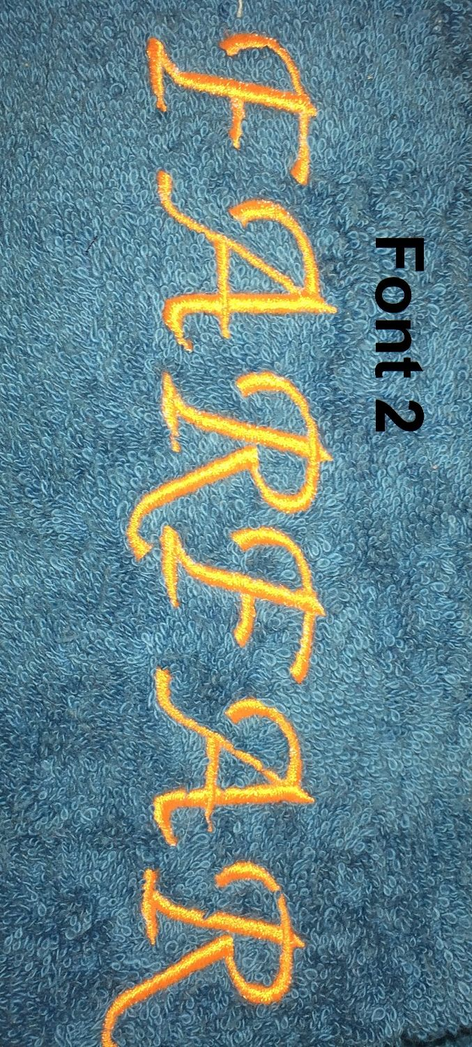 Embroidered personalized towel, Leonora