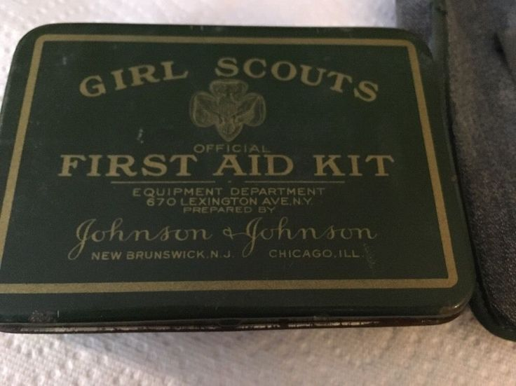 Vintage Antique Girl Scouts of America First Aid Kit 1930s Pouch Case Contents | eBay
