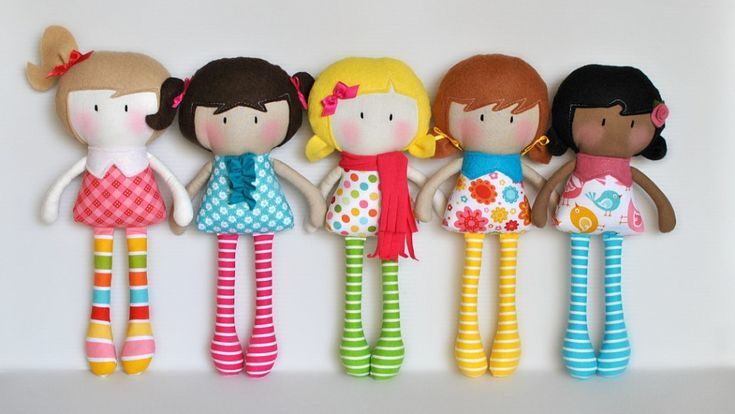 Felt Dolls can be made with #Polymat felt very high quality Visit #Bargainshore.com