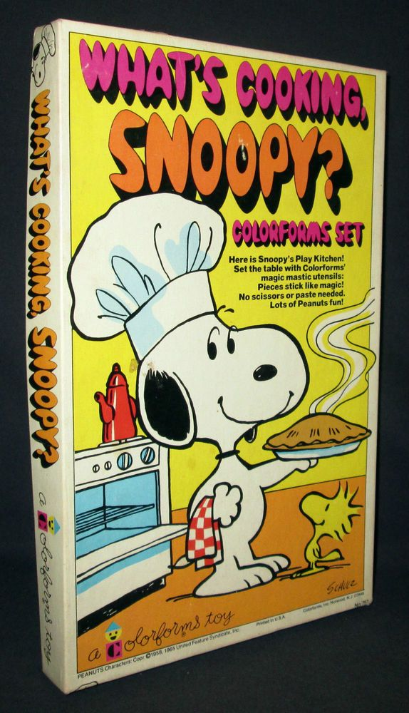 Original 1965 What's Cooking Snoopy ? Colorforms Toy Set, Peanuts, Charlie  Brown #Colorforms