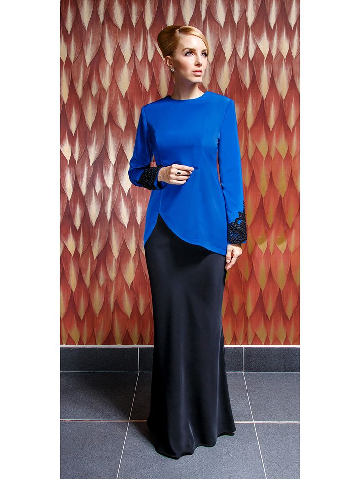 Modern Kurung with Asymmetrical Hem