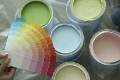 How to Tint Concrete Using Latex Paint thumbnail - eHow (evidently makes the concrete a little stronger also)