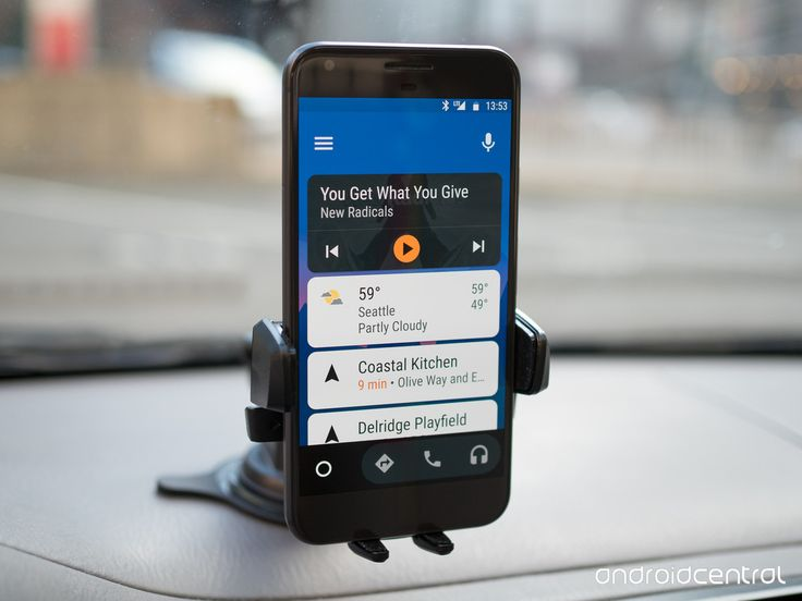 Android Auto on a phone