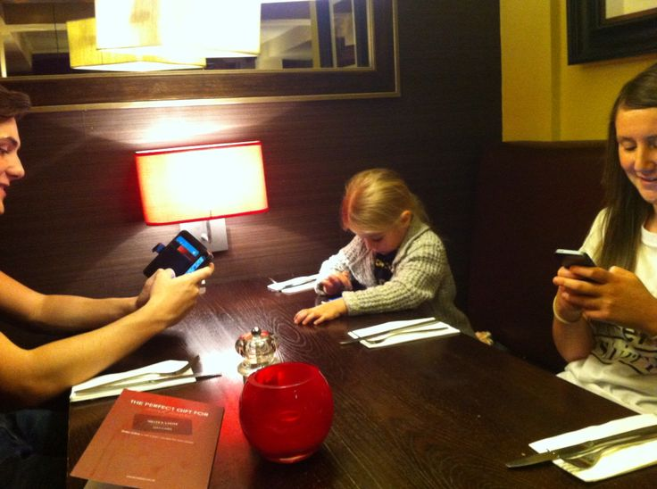 Mobiles taking over!! This was taken at a recent family meal. 3 kids sat there on mobiles not talking. Next time you go for a meal try banning mobiles. It's harder than you think. You might not go on Facebook or Twitter or not check your txt or snapchat but you will still find yourself taking a picture with your phone ready to post in Instagram. Just like I have. I sat with Kerry talking about the use of mobiles today killing social skills and I go ahead and take out my phone to document it…