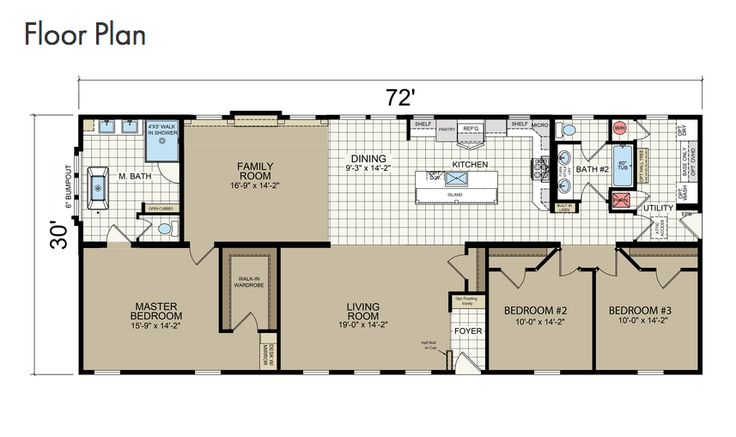 3/2 Champion home. This lovely comes with two living areas, our Ultimate Kitchen Two and our Radiant Spa Master Bath to see more of this amazing home, check out ----> https://www.championhomes.com/home-plans-photos/new-moon-7205