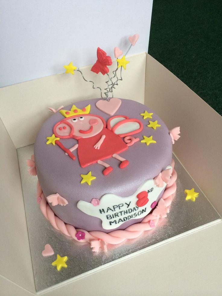 Peppa Pig Cake Girl Birthday Party Ideas Pinterest