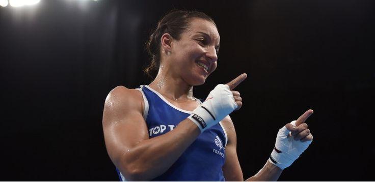 La boxeuse française Sarah Ourahmoune a pris la médaille d'argent olympique de…