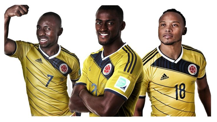 Pablo Armero, Jackson Martínez and Juan Zúñiga from #Colombia  #Brasil2014 #Futbol