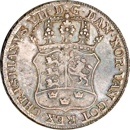 Christian VII Danish Asiatic Company Piastre 1777 The Greenland Dollar is a bit of a misnomer in that it was struck for trade in the Orient, but includes the Danish island territories on the coin, namely Greenland, Iceland and the Faroe Islands. Salveson knew of 21 examples of this variety with 12 in museums. Scandinavia, world crowns and trade dollars, and is easily one of the most famous coins ever struck.