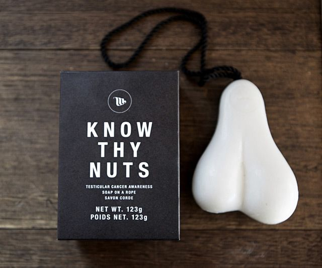 Know Thy Nuts Soap on a Rope | DudeIWantThat.com