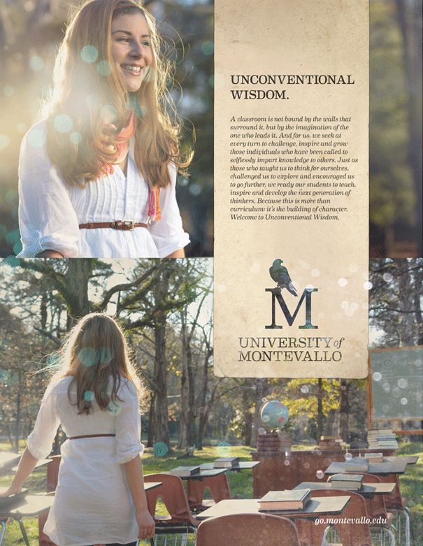 The New University of Montevallo brand | Unconventional Wisdom