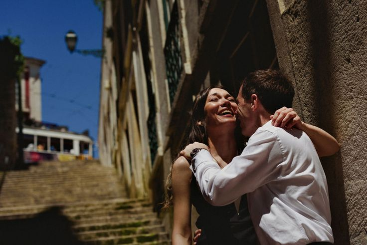 Wedding Photographer Lisbon - Engagement Session with Lara from Russia and Steve from Uk in Alfama, Lisbon and Sintra. Photoshoot in Portugal.