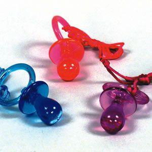 90's Pacifier Necklace...why were these big again?