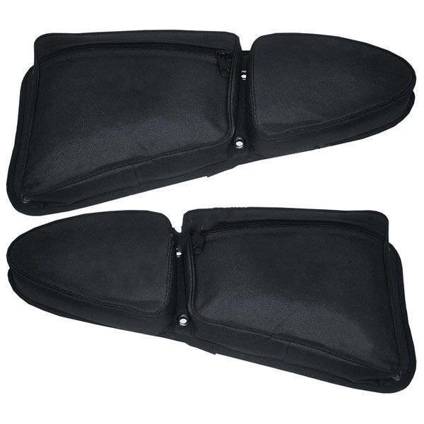 RZR 1000/900s Stock Door Bag w/Knee Pads ON SALE starting at $43.95 Protect your knees while adding storage to your factory doors with these RZR XP1000 and RZR S 900 Stock Door Bag with Knee Pad. This bag attaches to the door with the factory screws and a small strip of hook and loop to keep it snug.