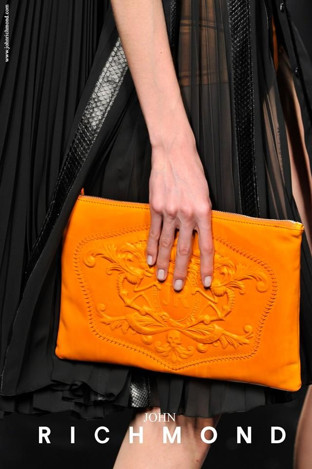 A touch of orange... Spring is now! John Richmond Spring/Summer 2014  #JohnRichmondOfficial #spring #summer #fashion #orange #color #follower #followme